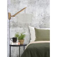thumb-Wandlamp Andes bamboe nat./kap 32x20cm eco linnen licht, S-3