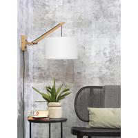 thumb-Wandlamp Andes bamboe nat./kap 32x20cm eco linnen wit, S-2