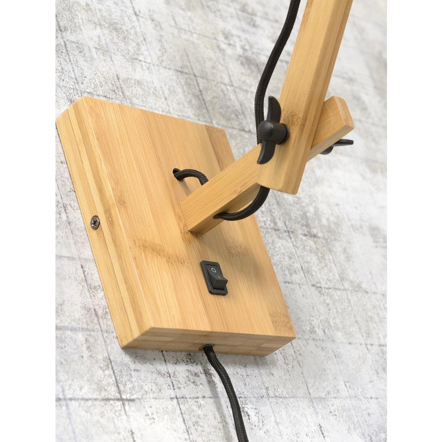 Wandlamp Andes bamboe nat./kap 32x20cm eco linnen wit, S-5