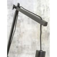 thumb-Wandlamp Andes bamboe zw./kap 47x23cm ecolin. licht, L-4