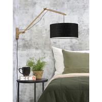 thumb-Wandlamp Andes bamboe nat./kap 47x23cm ecolin. zw. L-3