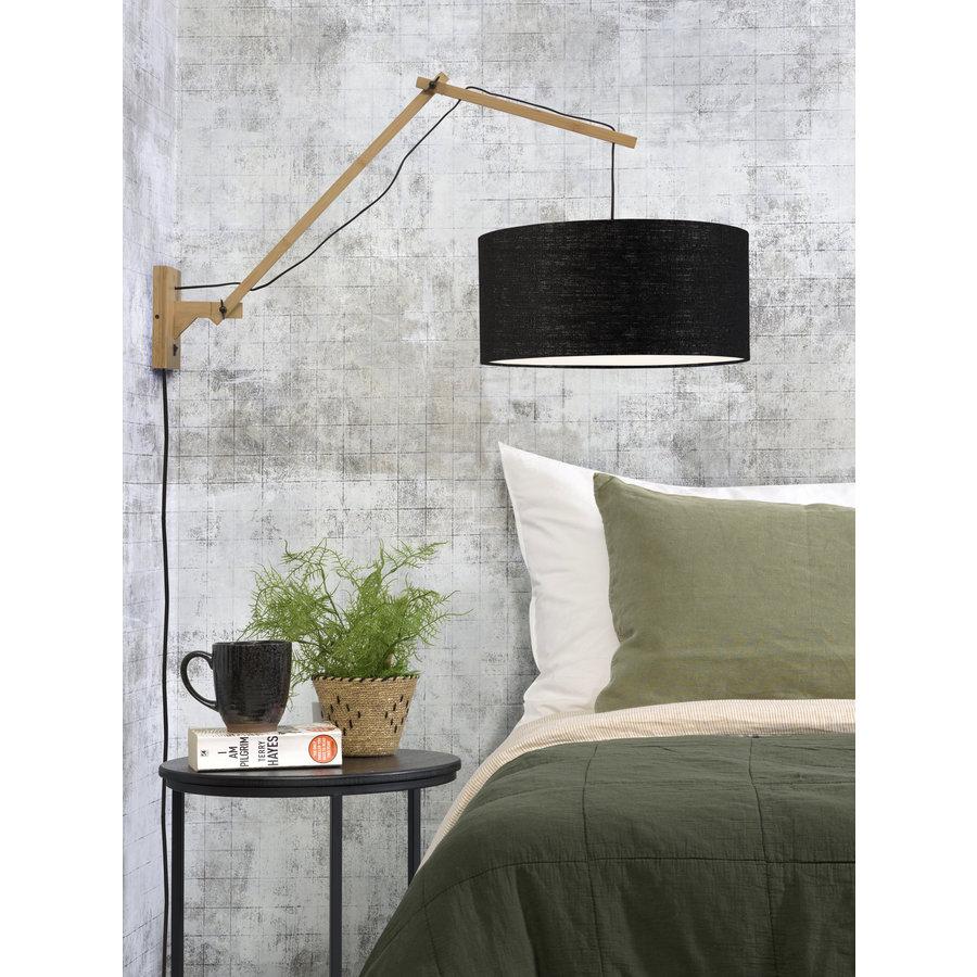Wandlamp Andes bamboe nat./kap 47x23cm ecolin. zw. L-3