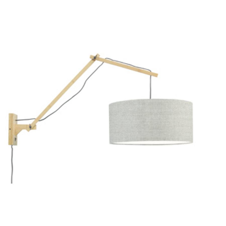 Wandlamp Andes bamboe nat./kap 47x23cm ecolin. donker, L-1