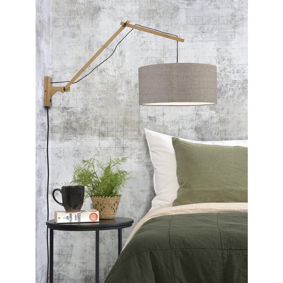 Wandlamp Andes bamboe nat./kap 47x23cm ecolin. donker, L-3
