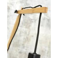 thumb-Wandlamp Andes bamboe nat./kap 47x23cm ecolin. donker, L-4