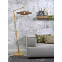 thumb-Vloerlamp Bali bamboe h.176cm/kap dia.60x15cm nat./zw. M-2