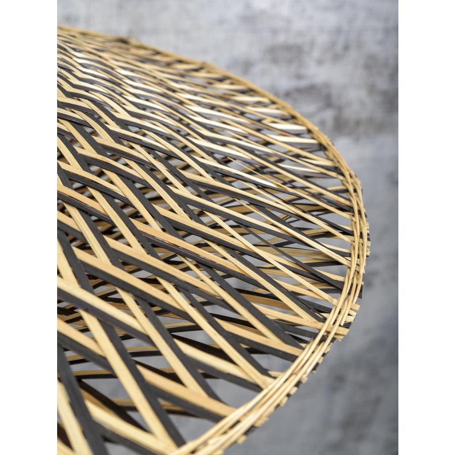 Vloerlamp Bali bamboe h.176cm/kap dia.60x15cm nat./zw. M-5