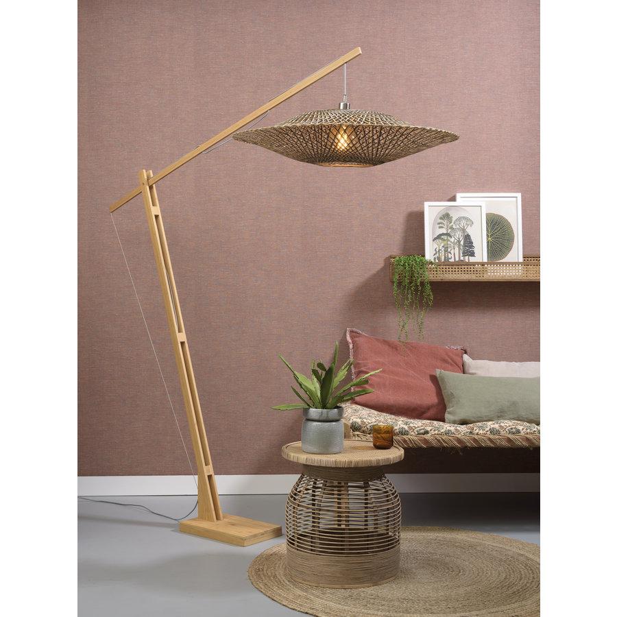 Vloerlamp Bali bamboe verstelbaar-3