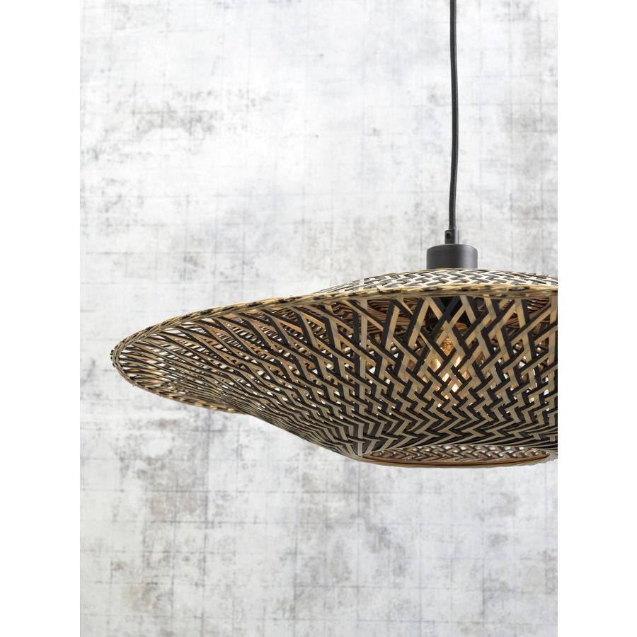 Hanglamp Bali bamboe horiz. 60x15cm zwart/naturel, M-3