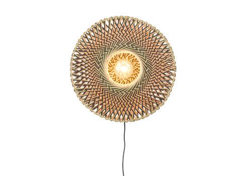 Wandlamp Bali 44cm zw./nat., S