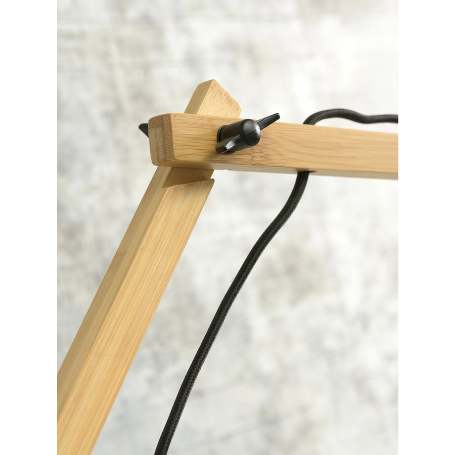Wandlamp Bali bamboe nat./kap 60x15cm zw./nat., L-9
