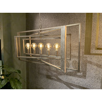 thumb-Hanglamp AVENUE in zilver of brass-1
