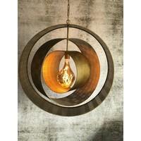 thumb-Hanglamp Binck in ambachtelijk metaal-1