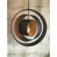 thumb-Hanglamp Binck in ambachtelijk metaal-3