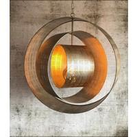 thumb-Hanglamp Binck in ambachtelijk metaal-6