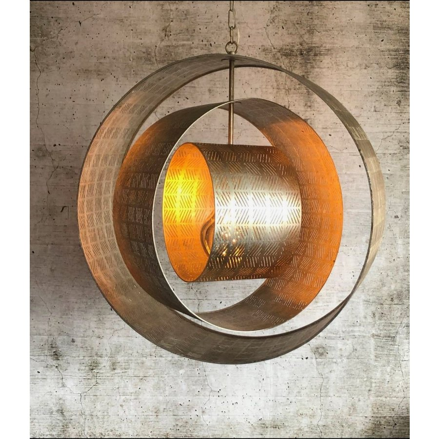 Hanglamp Binck in ambachtelijk metaal-6