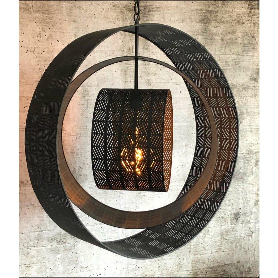Hanglamp Binck in ambachtelijk metaal-4