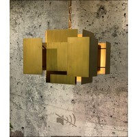 thumb-Hanglamp LUX in Brass of Industrial Dark-2