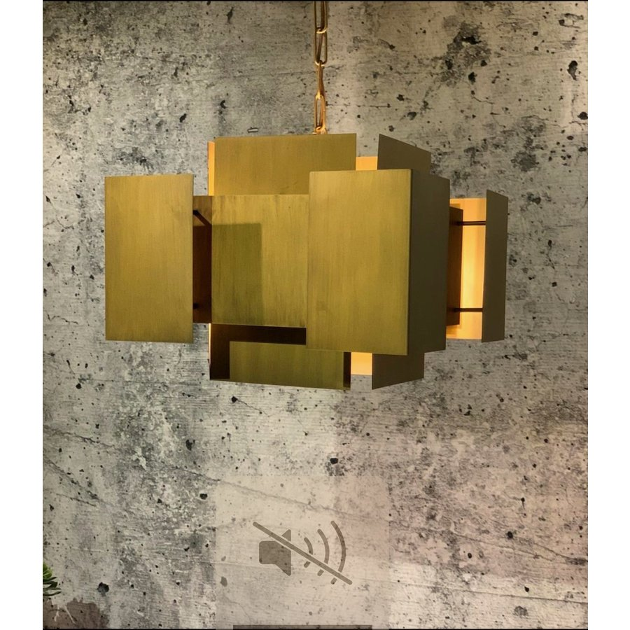 Hanglamp LUX in Brass of Industrial Dark-2