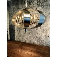 thumb-Hanglamp Malibu in bladzilver of industrial dark-7