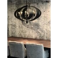 thumb-Hanglamp Malibu in bladzilver of industrial dark-10