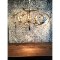 thumb-Hanglamp Malibu in bladzilver of industrial dark-1