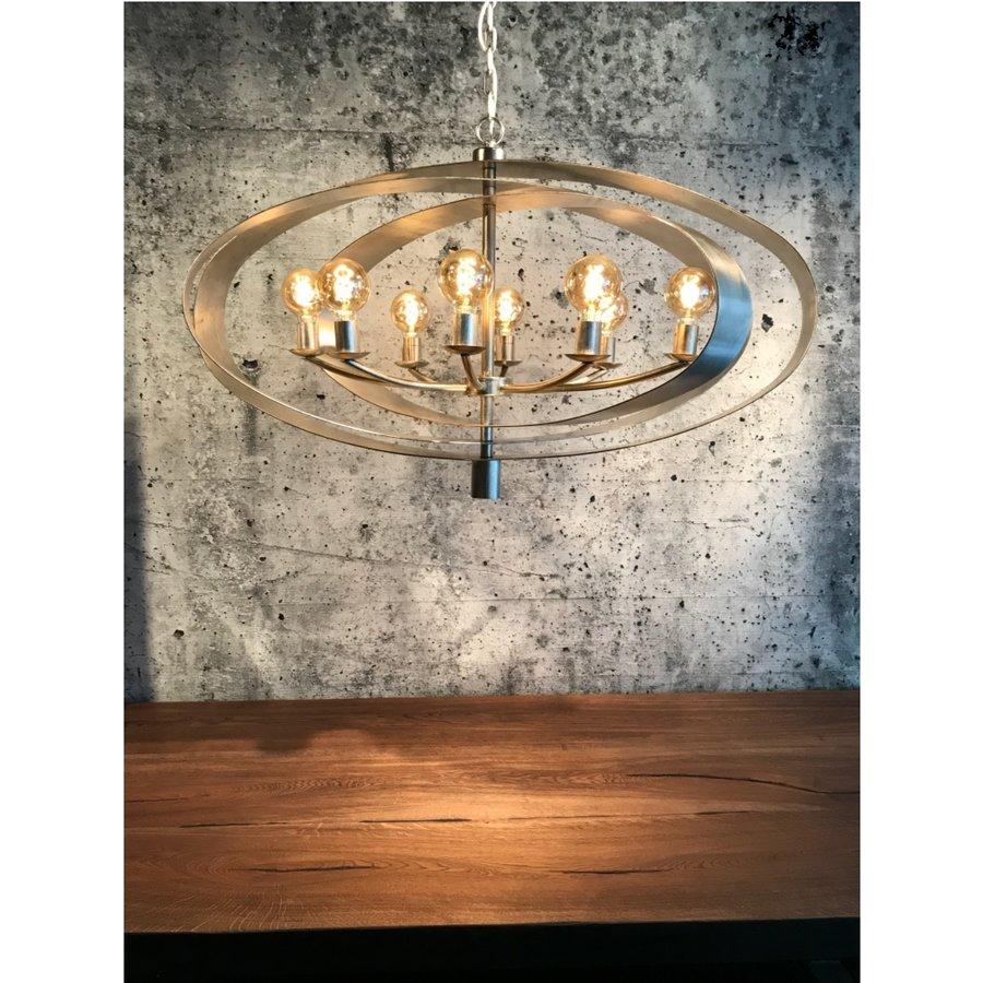 Hanglamp Malibu in bladzilver of industrial dark-1