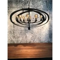thumb-Hanglamp Malibu in bladzilver of industrial dark-2