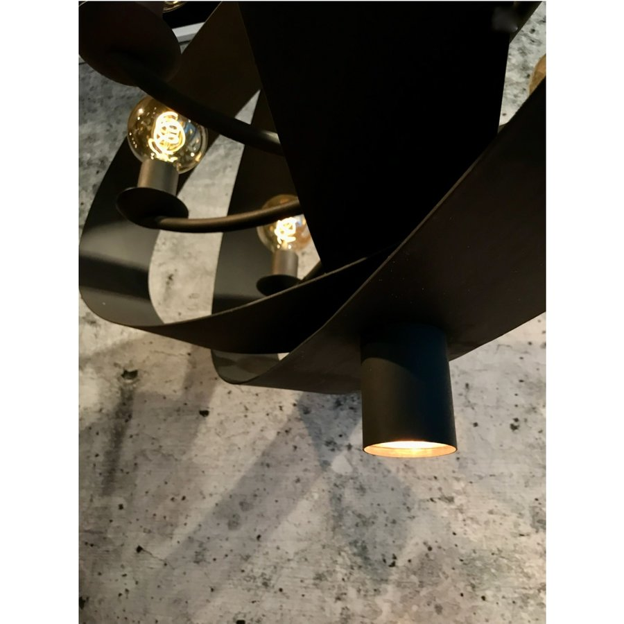Hanglamp Malibu in bladzilver of industrial dark-9
