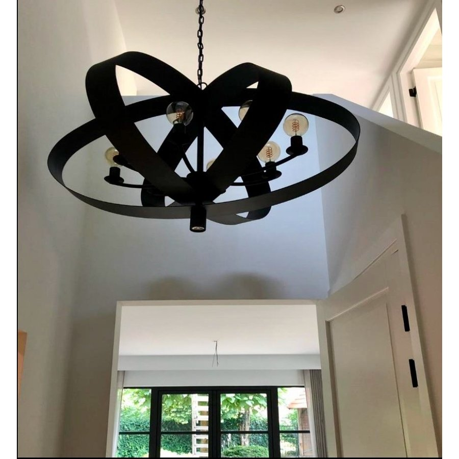 Hanglamp Malibu in bladzilver of industrial dark-4
