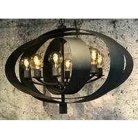thumb-Hanglamp Malibu in bladzilver of industrial dark-6