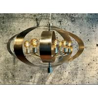 thumb-Hanglamp Malibu in bladzilver of industrial dark-5