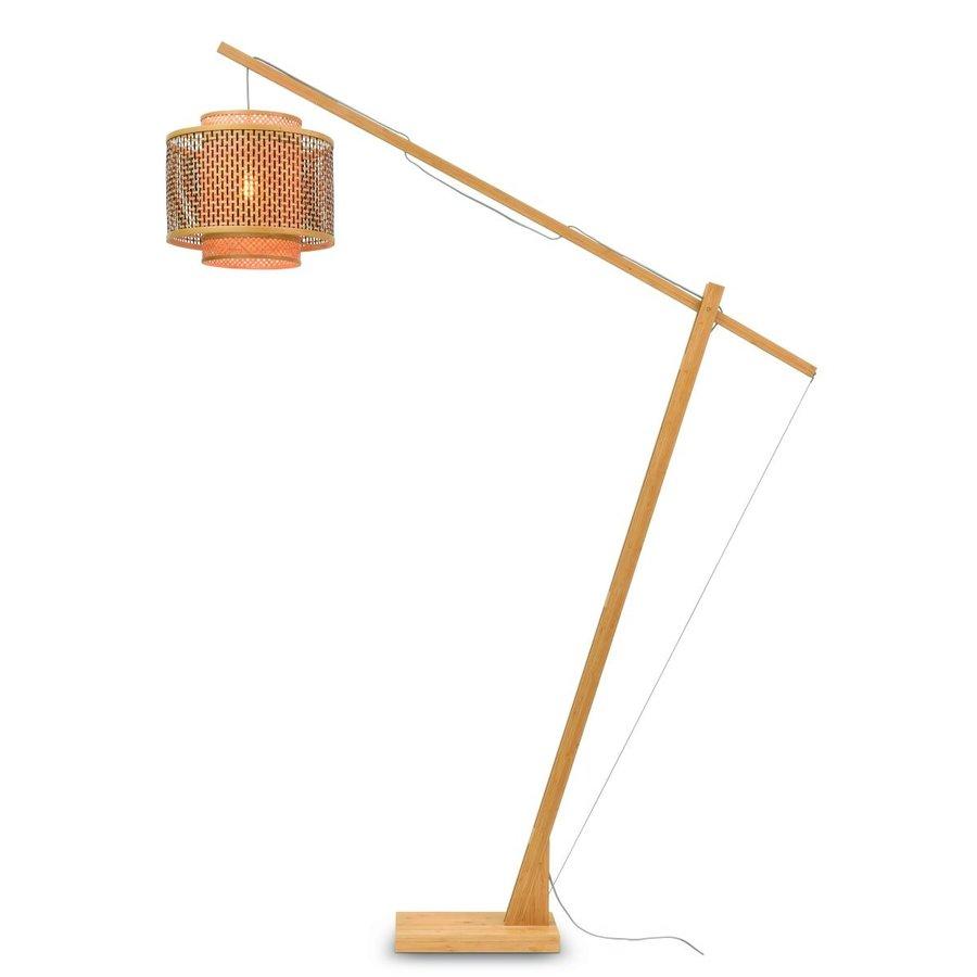 Vloerlamp Bhutan bamboe naturel verstelbaar-1