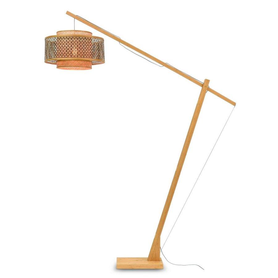 Vloerlamp Bhutan bamboe naturel verstelbaar-2