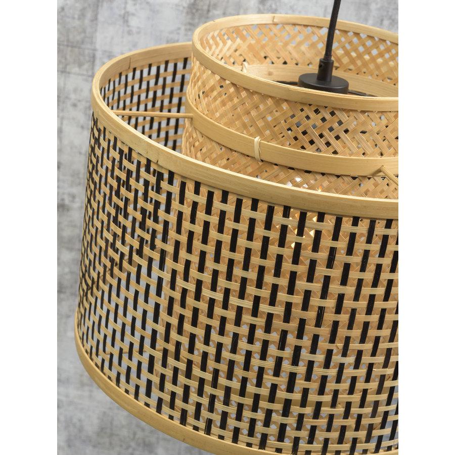 Wandlamp Bhutan bamboe zwart verstelbaar-6