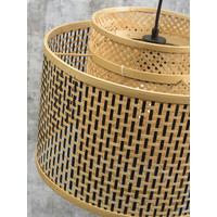 thumb-Wandlamp Bhutan bamboe naturel verstelbaar op 2 punten-6