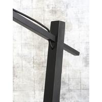 thumb-Vloerlamp BROMO bamboe zwart met lampenkap in 2 maten-5