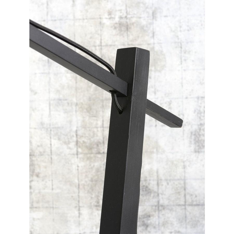Vloerlamp BROMO bamboe zwart met lampenkap in 2 maten-5