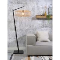 thumb-Vloerlamp BROMO bamboe zwart met lampenkap in 2 maten-4