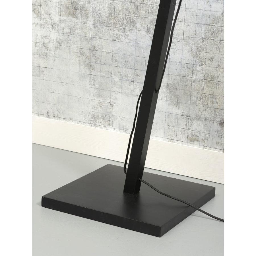 Vloerlamp BROMO bamboe zwart met lampenkap in 2 maten-10