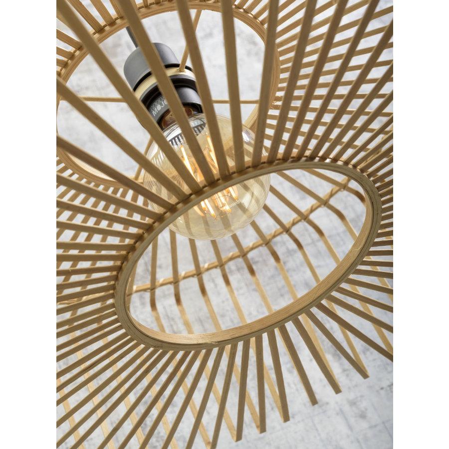 Vloerlamp BROMO bamboe naturel met lampenkap in 2 maten-7