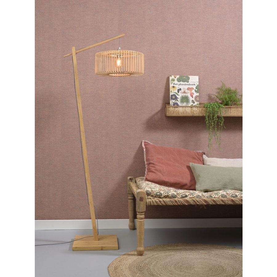 Vloerlamp BROMO bamboe naturel met lampenkap in 2 maten-4