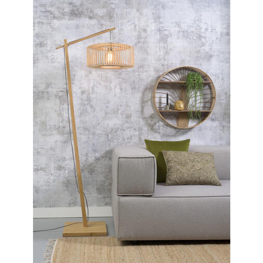 Vloerlamp BROMO bamboe naturel met lampenkap in 2 maten-3