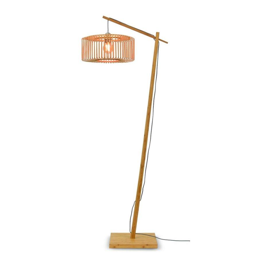 Vloerlamp BROMO bamboe naturel met lampenkap in 2 maten-1