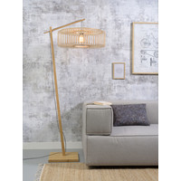 thumb-Vloerlamp BROMO bamboe naturel met lampenkap in 2 maten-5