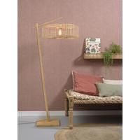 thumb-Vloerlamp BROMO bamboe naturel met lampenkap in 2 maten-6