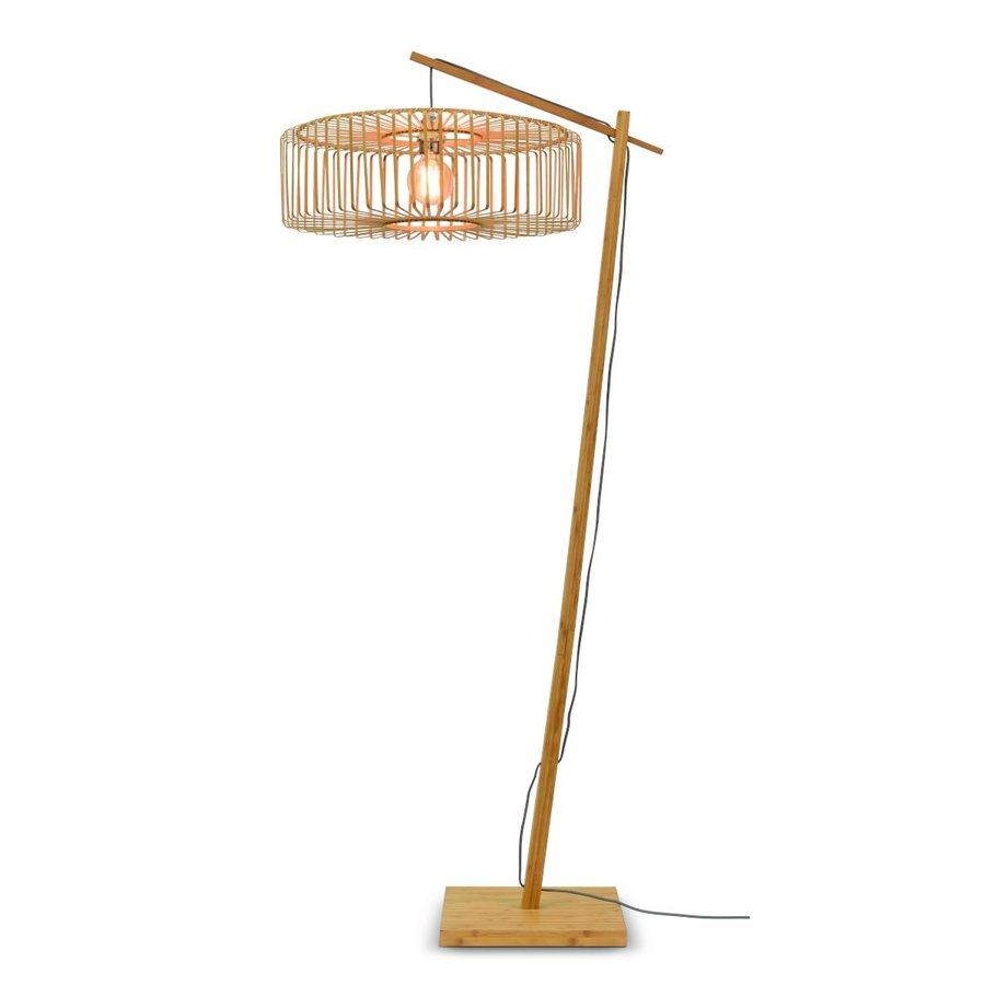 Vloerlamp BROMO bamboe naturel met lampenkap in 2 maten-2