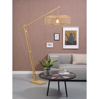 thumb-Vloerlamp BROMO bamboe naturel XL verstelbaar-2