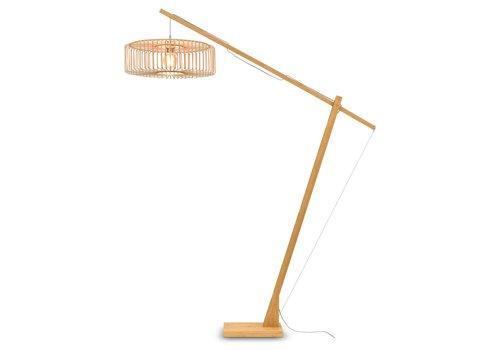 Vloerlamp Bromo bamboe verstelbaar