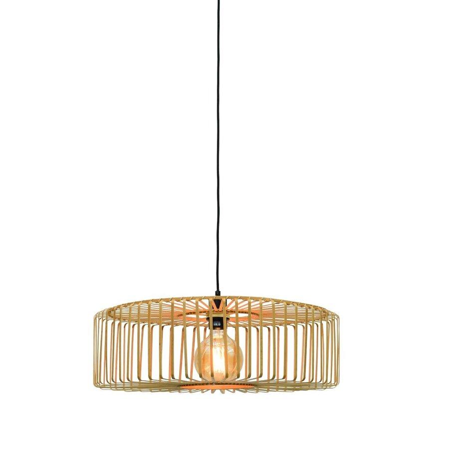 Hanglamp BROMO bamboe naturel met ronde lampenkap in 2 maten-2